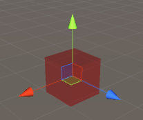 custom gizmo red cube