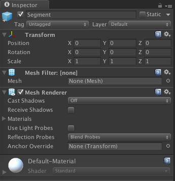 Mesh Renderer and Mesh Filter prefab.