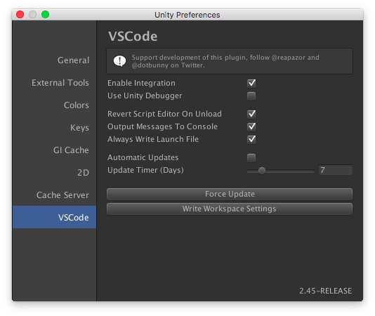 vscode preferences window