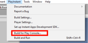 Google Play Instant Menu