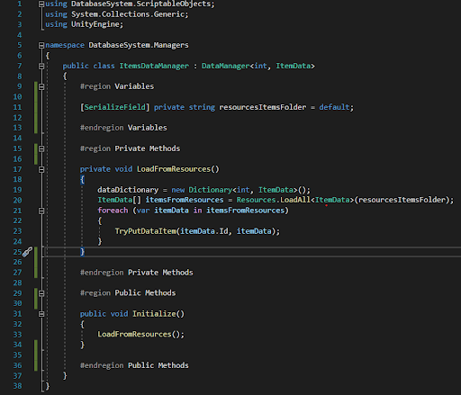 [Image 6. Initialization Code Snippet]