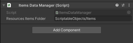 [Image 7. Items Data Manager Component]